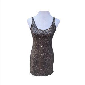 Express Women's Sequin Sparkle Gray Tank XS